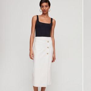 Aritzia Babaton- Midi buttoned up skirt